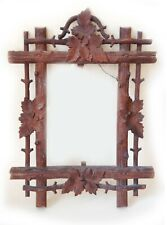 Antique Black Forest Frame Masterfully Carved From One Piece Of Wood Signed Ek