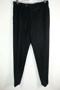Brioni Sport Wool Pants Thick Black Size 30x31