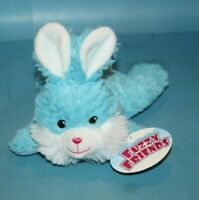 """Greenbrier FUZZY FRIENDS EASTER BUNNY RABBIT 9"""" Blue Lying Plush Soft Toy NEW"""