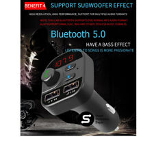 805E Bluetooth 5.0 FM Transmitter Handsfree Car Kit MP3 Player USB Charger Kit