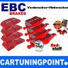 EBC PASTILLAS FRENO delant. + eje trasero Redstuff para VW GOLF 3 1h1 DP3841/2c