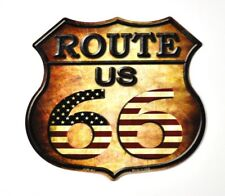 USA Flagge Route 66 Kühlschrankmagnet Fridge Magnet Deko Blechschild