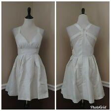 Modcloth Dress M Metallic Silver Marilyn Monroe Open Back Retro Pearl $95 Prom