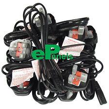 1.8m C7 Figure 8 Fig8 2Pin 3A Laptop Mains Power Cable UK Bulk LOT 100
