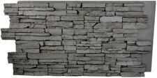 Faux Stone Wall Panel Gray Rock Stack Brick Indoor Outdoor Siding Material