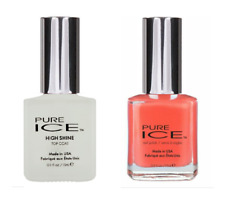 Pure ICE Nail Polish Set of 2 CAN'T STOP & HIGH SHINE Top Coat FREE SHIPPING