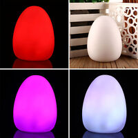 LED Multi color Color Changing Colorful Egg Shaped Room Decor Baby Night Light