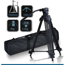 Pro Video Photo Aluminum Tripod Fluid Pan Head Kit with Handle and Case, FC270A