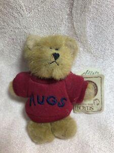 Boyds Bears Plush Mini Message Bear ~ Hugs