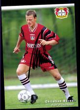 Christian Wörns Autogrammkarte Bayer Leverkusen 1997-98 Original Sign+A 117626