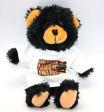 American Music Awards 2007 Furry Stuffed Bean Black Bear Animal T Shirt Collect