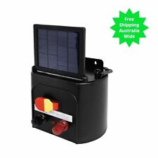 Electric Fence Solar Charger Energiser Power Energizer Farm Pet Animal to 5km 1