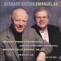 BRAHMS: PIANO CONCERTO NO. 2 / CELLO SONATA, OP. 78 CD  NEW SEALED