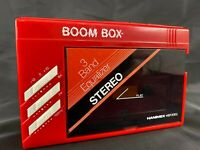 BOOM BOX PORTABLE STEREO CASSETTE WALKMAN WITH HEADPHONES rare