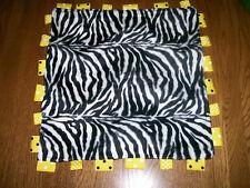 Taggie Handmade Tag Blankie Yellow Black Zebra BABY Security Blanket LOVEY