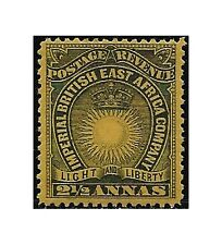 British East Africa 1891 stamps 2 1/2 annas black/yellow buff, SG.7 LH - F474