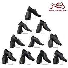 Hombres Zapatos Negro Cuero Inteligente todos los tamaños Reino Unido formal boda mañana informal Traje