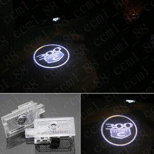 2x Led Light Door Projector Welcome 300 Hemi C Logo Emblem For Chrysler 300 300C