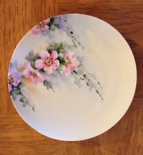 "Antique Bavarian Porcelain 8 1/4"" Plate Green Mark Bavaria J&C/ 19th Century"
