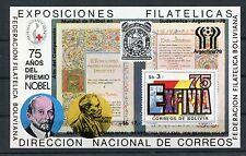 Bolivien Block 78 postfrisch / Fußball - Nobelpreis ......................1/1454