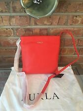 $318 NWT Furla Julia Chain Small Leather Crossbody. Color ARANCIO A