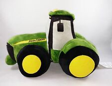 "EUC~JOHN DEERE Licensed Green Farm TRACTOR 14"" Pillow Buddy Plush Stuffed Decor"
