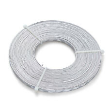 10 Rolls Silver Flat Aluminum Wire 5mm Textured Bendable for Sculpting Armature