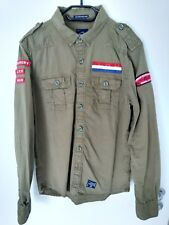Original Superdry Herren Hemd Langarm Patches Gr. L Top Zustand wie neu