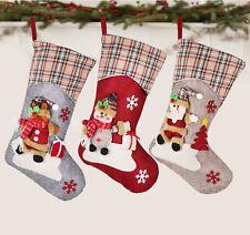 3er Set Nikolausstrumpf Weihnachtsstrumpf Socken Geschenktasche Weihnachtsdekor