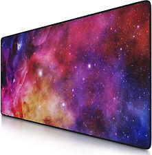 Tapis de souris XXL Galaxie 900 x 400mm sous main bureau gamer précis confort