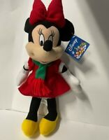 Toy Factory Disney plush Minnie Mouse Christmas Holiday Winter Scarf and Red Bow