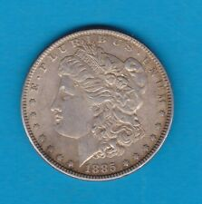 USA 1885 SILVER MORGAN DOLLAR IN VERY FINE OR BETTER CONDITION.