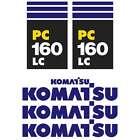 Komatsu PC130-7 PC160-7 LC New Repro Excavator decals Stickers Kit