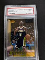 1996 Bowmans BEST KOBE BRYANT ROOKIE RC #R23 PSA 9 Mint HOF Lakers GOAT