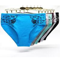 6 Pack Women's Cotton Underwear Sexy Ladies High Waist Knickers Pants,Sz 12-16