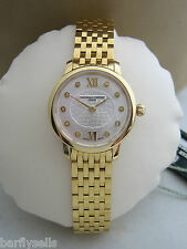 FREDERIQUE CONSTANT WATCH LADIES SLIMLINE MINI DIAMONDS FC-200WHDS5B GOLD PLATED