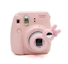 Fujifilm Instax Mini 8 Instant Camera Accessory Bundles Set PINK Case Selfie Fun