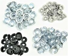 For Toyota PAL Nuts- Emblem Trim Chrome- Fits 4mm to 8mm Studs- 100 nuts- #045