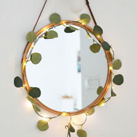 Copper Wire Artificial Eucalyptus Fairy Light Ivy Vine Lamp String Light
