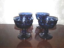 NORITAKE PROVINCIAL BLUE CHAMPAGNE / TALL SHERBET GLASSES