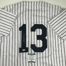 Autographed/Signed Alex Rodriguez New York Pinstripe Baseball Jersey Beckett Coa