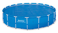Bestway 18 Foot Round Above Ground Swimming Pool Solar Heat Cover | 58173E