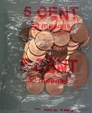 Ek // Sachets d'origine 5 Cent Portugal 2002 : 50 Pièces
