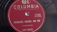 Lefty Frizzell - 78rpm single 10-inch – Columbia #21393 Moonlight, Darling, And