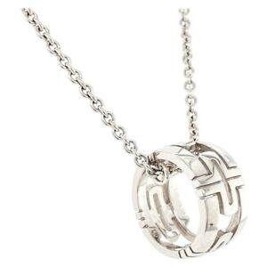 Bvlgari Parentesi 18k White Gold Pendant Necklace