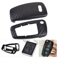 Carbon Fiber 3 Buttons Remote Flip Key Cover Case For Audi A1 A3 A4 2000-2016