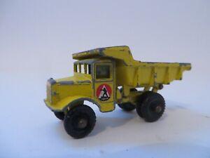 Matchbox 1-75 No.6 Euclid Quarry Truck Yellow Lesney Diecast England