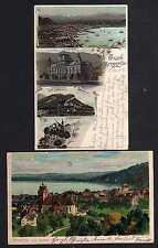 99889 2 AK Litho Bregenz 1900 1902 Neue Post Kloster Riedenburg  Vorarlberg
