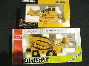 Diecast Construction Lot of 2 Caterpillar Cat 955L& Joal Compact Carmix 3500 NIB