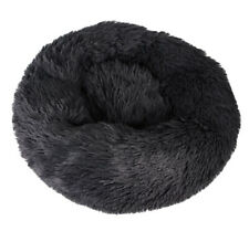 Grey Warm Comfy Calming Dog/Cat Round Soft Plush Pet Bed Marshmallow 60CM UK
